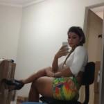 amazing sexy girl wearing cute shorties  (19)