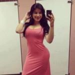 hot lady wearing sexy cute dress (1)