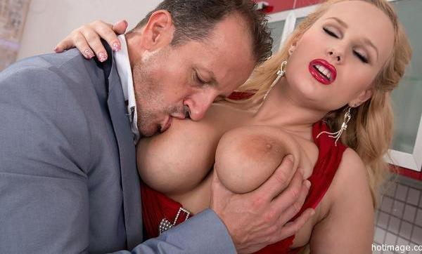 Men sucking on breast