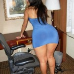 charming ladies wearing blue sexy  (58)