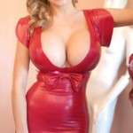 cleavage hot in sexy red - -  (41)