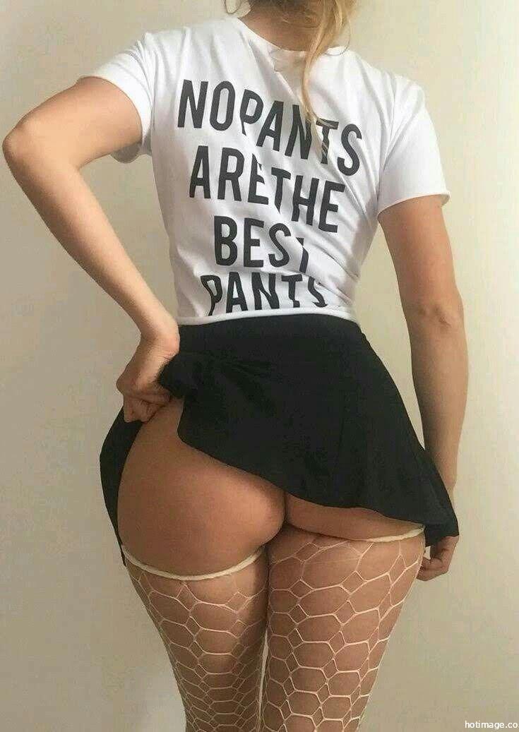 Short Skirt - Half Naked Ass